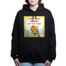 mountain climber Women's Hooded Sweatshirt