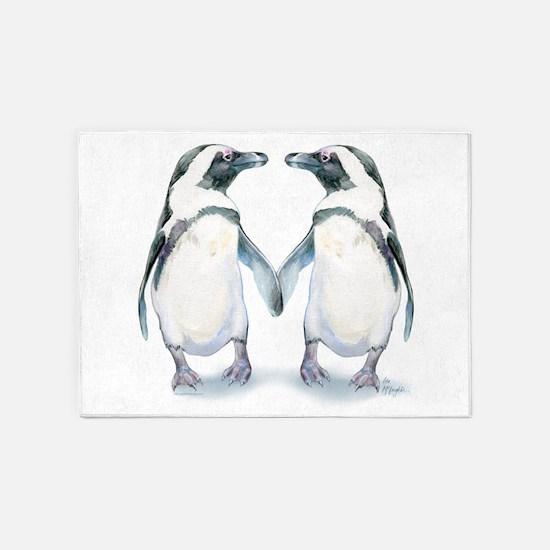Penguin Pals 5'x7'area Rug