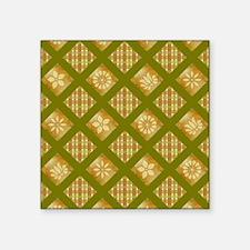 "FLORAL & PLAID Square Sticker 3"" x 3"""
