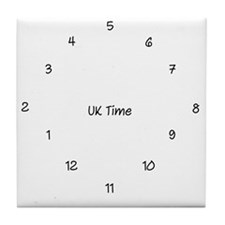 UK Time Tile Coaster