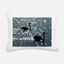black swan Rectangular Canvas Pillow