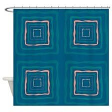 Blue Marcel Shower Curtain