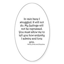 Mr. Darcy's Proposal from Jane Aust Decal