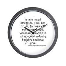 Mr. Darcy's Proposal from Jane Austen's Wall Clock