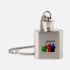 INDIE CREW.png Flask Necklace