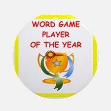 word games Ornament (Round)
