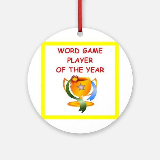 Word Games (round) Round Ornament
