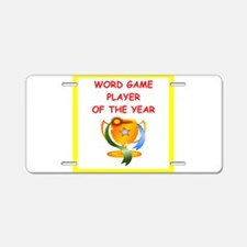 word games Aluminum License Plate