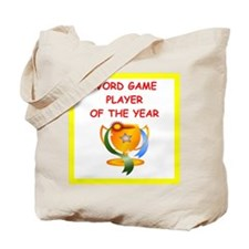 word games Tote Bag