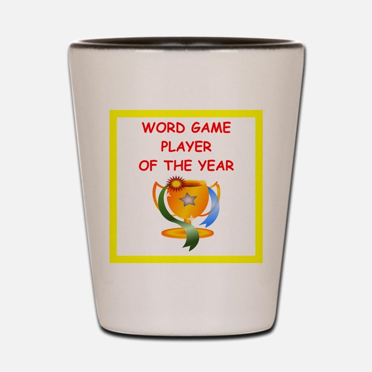 word games Shot Glass