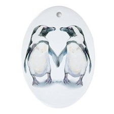 Penguin Pals Ornament (oval)