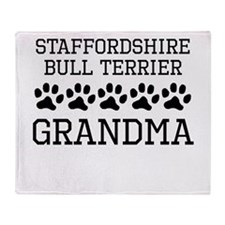 Staffordshire Bull Terrier Grandma Throw Blanket