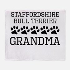 Staffordshire Bull Terrier Grandma Throw Blanket