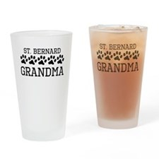 St. Bernard Grandma Drinking Glass