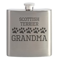 Scottish Terrier Grandma Flask