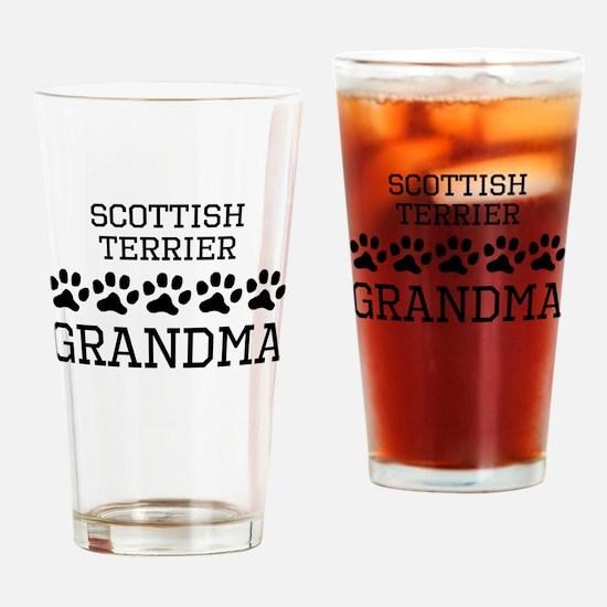 Scottish Terrier Grandma Drinking Glass