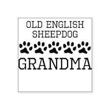 Old English Sheepdog Grandma Sticker