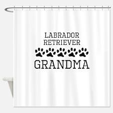 Labrador Retriever Grandma Shower Curtain
