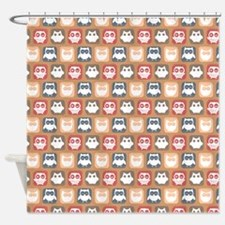 Cute and Lovely Owls Pattern Shower Curtain