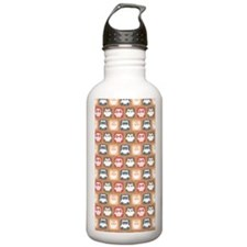 Cute and Lovely Owls P Water Bottle