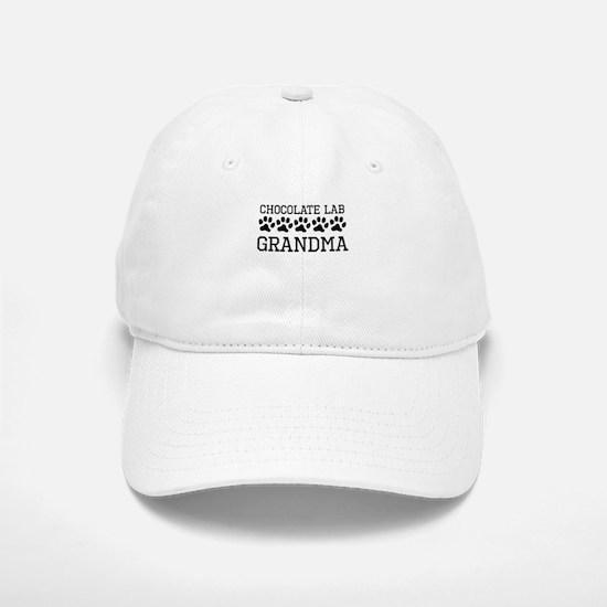 Chocolate Lab Grandma Baseball Baseball Baseball Cap