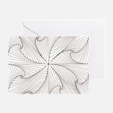 Paradox Spiral Greeting Card