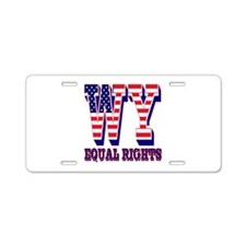 Wyoming WY Equal Rights Aluminum License Plate