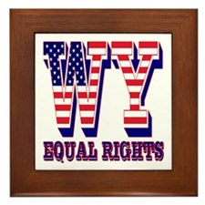 Wyoming WY Equal Rights Framed Tile