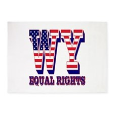 Wyoming WY Equal Rights 5'x7'Area Rug