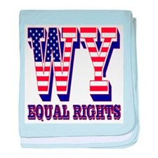 Wyoming WY Equal Rights baby blanket