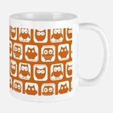 Cute Chocolate Owl Pattern Mug