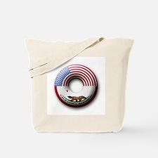 USA - California Flag Donut Tote Bag