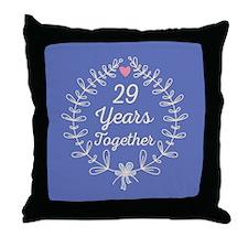 29th Wedding Anniversary Throw Pillow