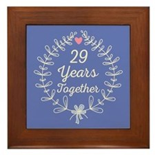 29th Wedding Anniversary Framed Tile