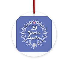 29th Wedding Anniversary Ornament (Round)