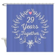 29th Wedding Anniversary Shower Curtain