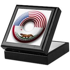 USA - California Flag Donut Keepsake Box