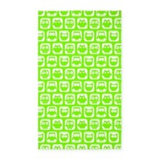 Chartreuse Owl Pattern Background Area Rug