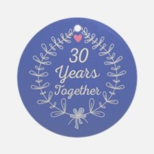 30th anniversary Ornament (Round)