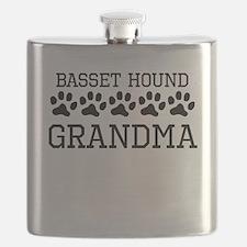 Basset Hound Grandma Flask