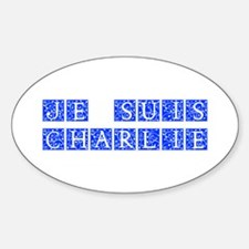 Je suis Charlie-Ana blue Decal