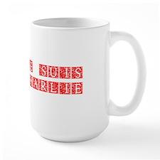Je suis Charlie-Ana red Mugs