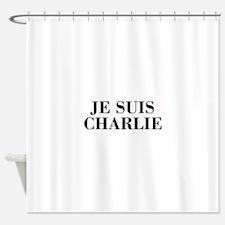 Je suis Charlie-Bod black Shower Curtain
