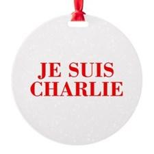Je suis Charlie-Bod red Ornament