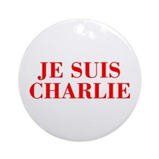 Je suis Charlie-Bod red Ornament (Round)