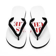 Je suis Charlie-Bod red Flip Flops