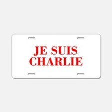Je suis Charlie-Bod red Aluminum License Plate