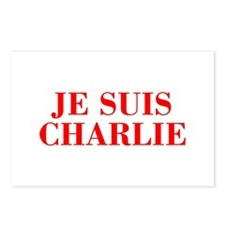 Je suis Charlie-Bod red Postcards (Package of 8)