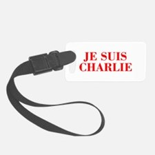 Je suis Charlie-Bod red Luggage Tag