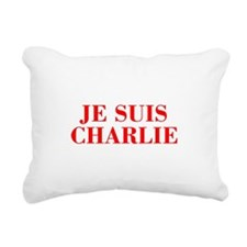 Je suis Charlie-Bod red Rectangular Canvas Pillow